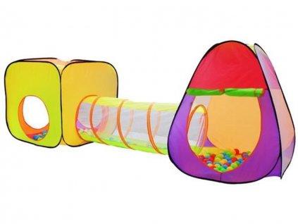 detsky stan a hraci domecek s tunelem vcetne 200 micku 1