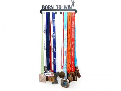 Věšák na medaile Born to win