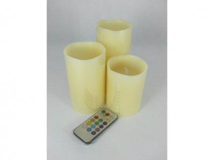 Svíčky na dálkové ovládání 3ks 5