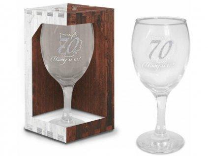 Sklenice na víno narozeniny 70