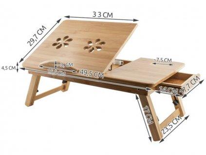 Stolek na notebook do postele Dřevěný 2