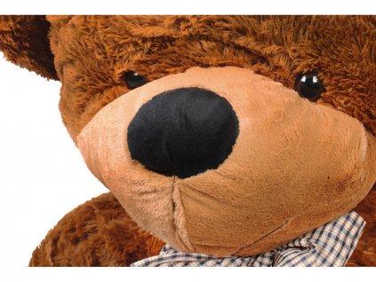 Plyšový medvěd 100 cm tmavě hnědý 1