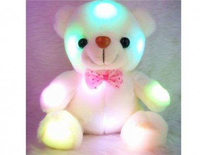 Svítící medvídek bílý