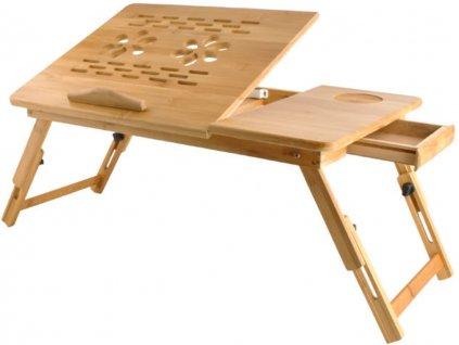 stolek na notebook do postele bambus 7
