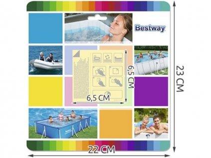 Bestway 62091 sada záplat na bazén (10 ks) 1