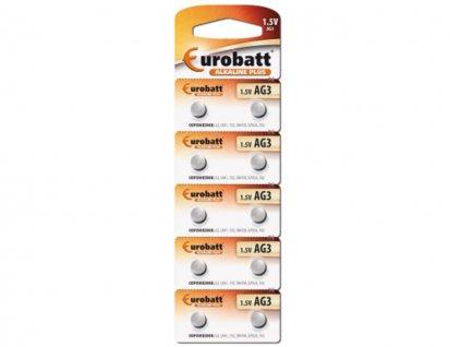 Alkalické baterie Eurobatt AG3 1ks