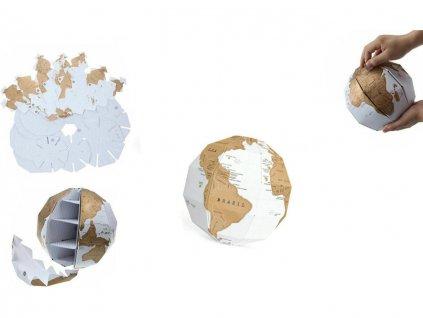 stírací mapa globus