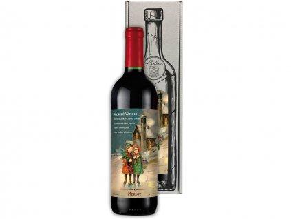 Vánoční víno Merlot 0,75 l - kouzelné vánoce
