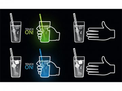 Svítící sklenička Touch ON Creano zelená