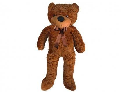 Plyšový medvěd 130 cm tmavě hnědý