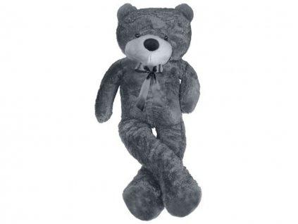 plysovy medved 100 cm sedy 2