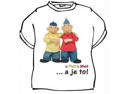 tričko dětské pat a mat