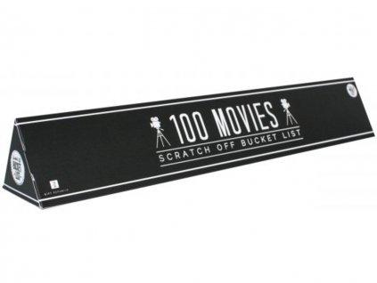 Stírací plakát 100 nejlepších filmů Bucket list