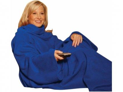 SNUGGIE Deka s rukávy Fleece černá