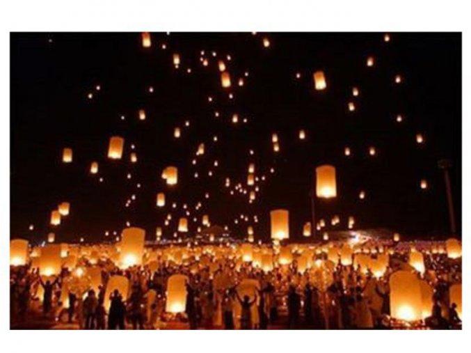 Lampion přání - Červený