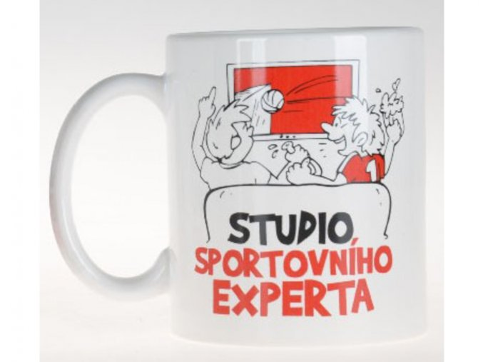 Vtipný hrnek - Studio sportovního experta