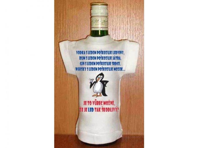 Tričko na láhev - Vodka s ledem