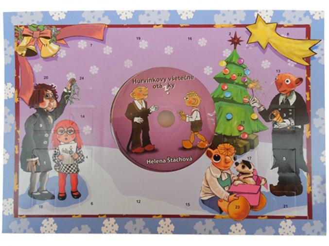 Adventní kalendář A4 50g s CD – Hurvínkovy hudební