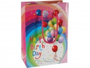 Dárková taška - Happy birthday balónky