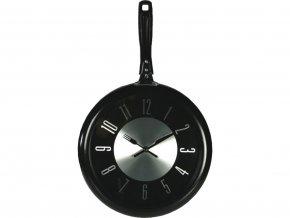 Pánvičkové hodiny - černé