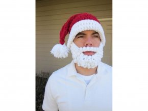Vousatá čepice BIG Santa Claus