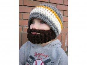 Vousatá čepice pro děti Dospělák
