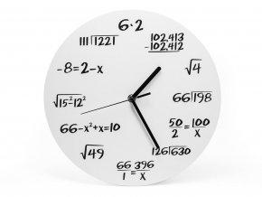 Matematické hodiny černé klasik