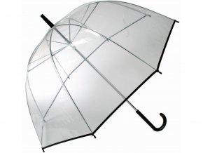 Průhledný deštník - černý pruh