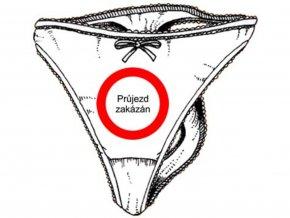 Kalhotky tanga - Průjezd zakázán