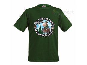 Tričko - Špatný den na posedu zelené