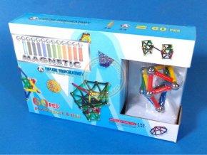 Magnetická stavebnice Magnetic 60ks