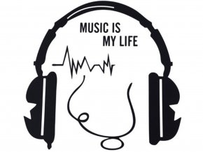 Samolepka na vypínač MUSIC IS MY LIFE