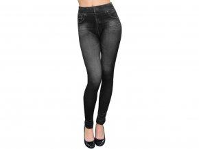 Dámské legíny jeans černé