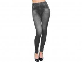 Dámské legíny jeans šedé