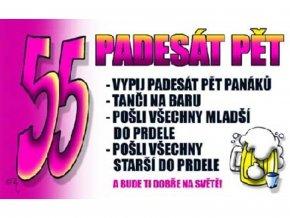 Průkaz 55 Padesát pět