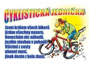Průkaz - Cyklistická jednička