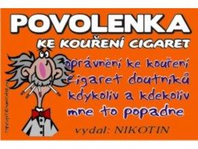 Povolenka ke kouření cigaret