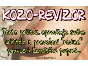 Průkaz - Kozorevizor