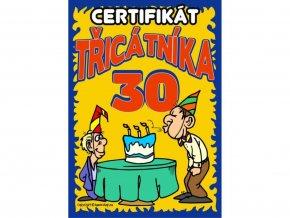 Certifikát třicátníka
