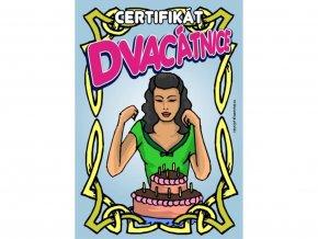 Certifikát dvacátnice
