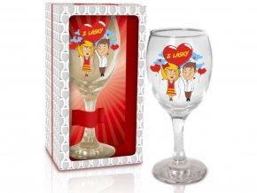 Sklenice na víno - Z lásky