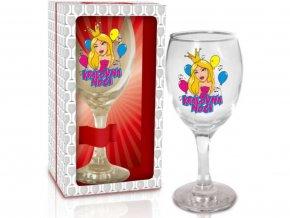 Sklenice na víno - Královna noci