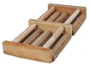 Nožní masér dřevěný
