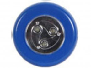 Samolepící lampička 3 LED modrá