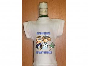 Tričko na láhev - Blahopřejeme, ať Vám to vydrží