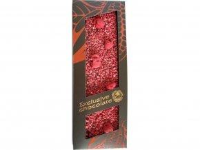 Hořká čokoláda s malinami 120g