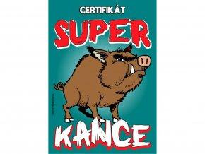 Certifikát super kance