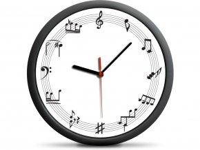Nástěnné notové hodiny