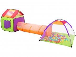 Dětský stanový set se spojovacím tunelem + 200 mí