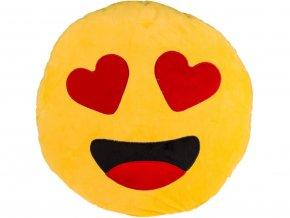 Polštář smajlík zamilovaný 30cm